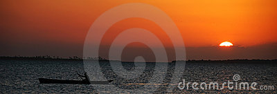Fisherman in the sunset - Zanzibar