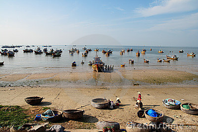 Fisherman Village, Mui Ne, Vietnam Editorial Photography