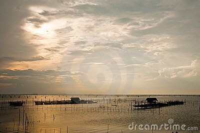 Fisherman village in south of  Thailand