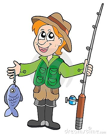 Free Fisherman With Rod Royalty Free Stock Image - 5970606