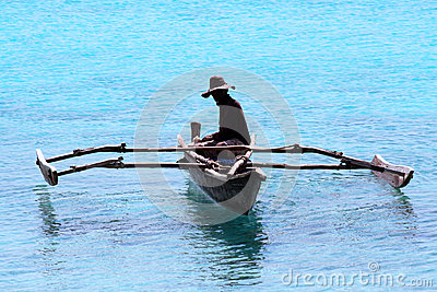 Fisherman in Zanzibar Editorial Stock Image
