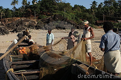 Fishermans from Karnataka Editorial Photo