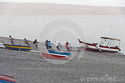 Fishermen Editorial Stock Photo
