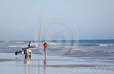 Fishermen on the beach Editorial Stock Photo