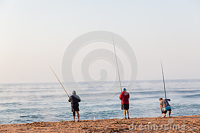 Fishermen Beach Holidays Editorial Photography