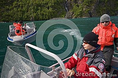 Fishermen in boats