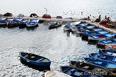 Fishermen boats Editorial Photography