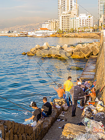 Free Fishermen In Beirut Royalty Free Stock Photo - 99254195
