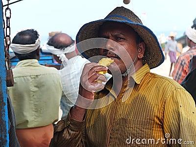 Fishermen, Marari Beach, Kerala India Editorial Stock Photo