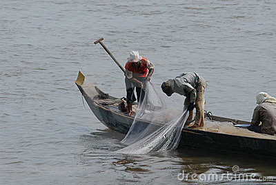 Fishermen at the Mekong River