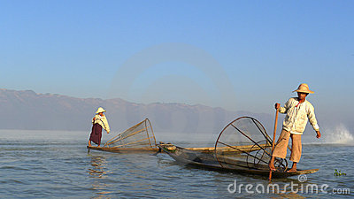 Fishermen in Myanmar Editorial Photo