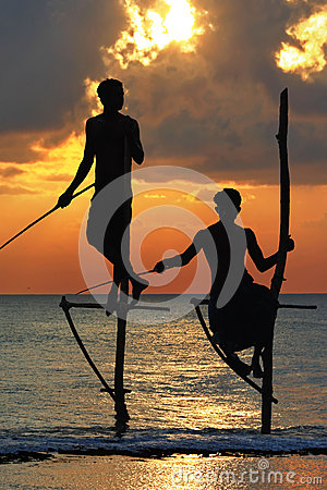 Free Fishermen Of Sri Lanka Stock Photos - 26432173