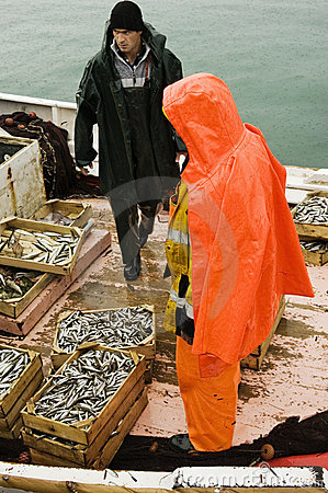 Free Fishermen On Trawler Boat Stock Images - 7736744