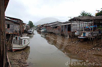 Fishermen Village in Amazon Rainforest