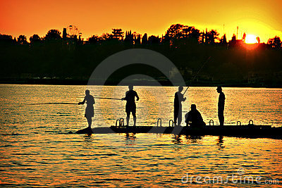 The fishers sunset