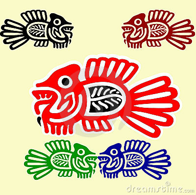 Fishes in  american indians  style