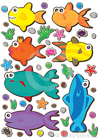 Fishes Colorful Set_eps