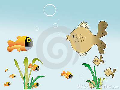 Fishes and float grass