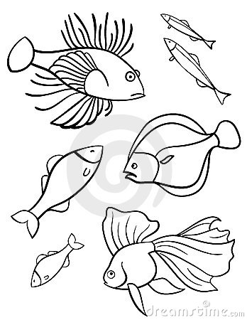 Fishes a set of vector symbols.