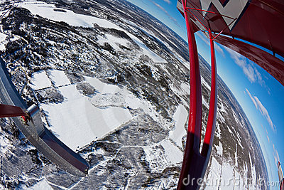 Fisheye flying in winter