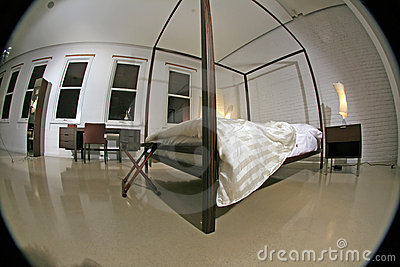 Fisheye Image Of A Modern Bedroom Stock Image - Image: 6533211