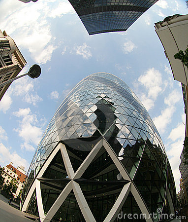 Free Fisheye Of Swiss Re Building Stock Images - 2917294
