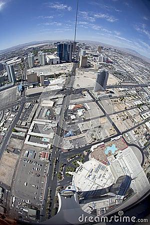 Fisheye view of Las Vegas Editorial Stock Photo
