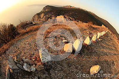 Fisheye view from the mountains