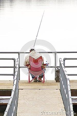 Fishing Alone Stock Photo