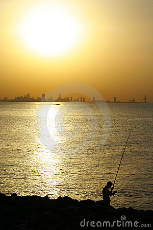 Fishing on arabian gulf