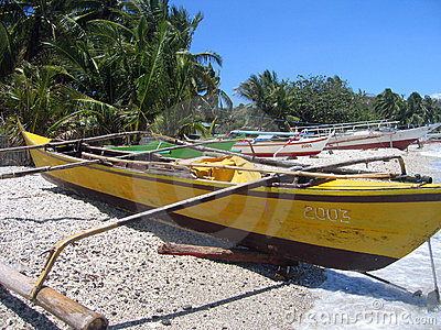 fishing bankas small outrigger boats philippines