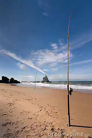 Fishing at the beach