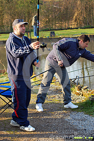 Fishing in Belgium editorial Editorial Photography