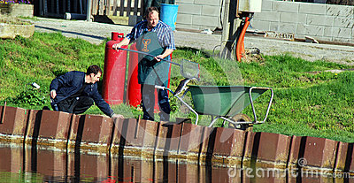 Fishing in Belgium editorial Editorial Stock Photo