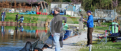 Fishing in Belgium editorial Editorial Stock Image