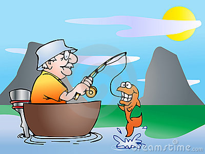 Fishing on boat