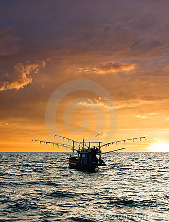 Free Fishing Boat. Royalty Free Stock Photo - 19352005