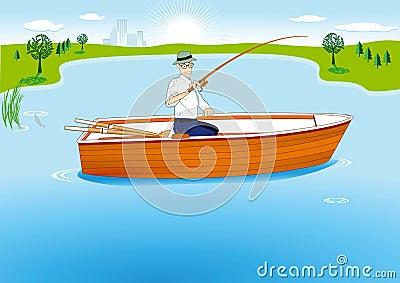 Fishing in Boat
