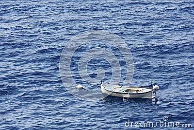 Fishing boat at anchor