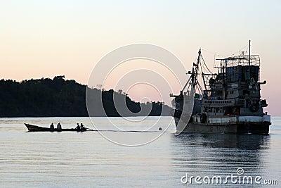 Fishing Boat burma, asian,