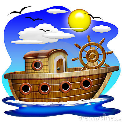 Free Fishing Boat Cartoon Stock Photography - 9802892