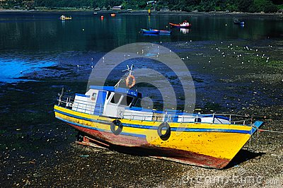 Fishing boat in Chile