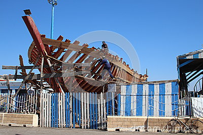 Fishing Boat Construction Editorial Stock Image