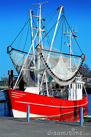 Fishing boat in the harbour
