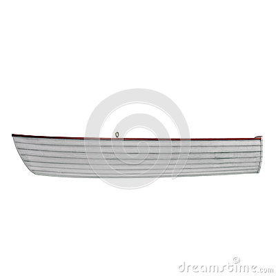Free Fishing Boat Isolated On White. Side View. 3D Illustration Stock Images - 78079944