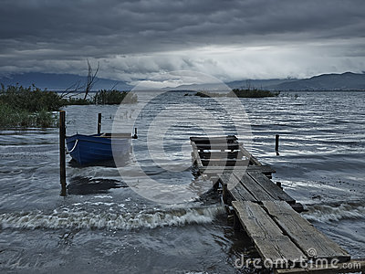 Fishing boat in the morning stock photos image 30991663 for Fishing docks near me
