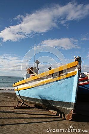 Free Fishing Boat On Dock Stock Photography - 5353272