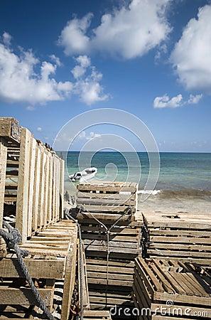 Fishing boat panga lobster traps nicaragua