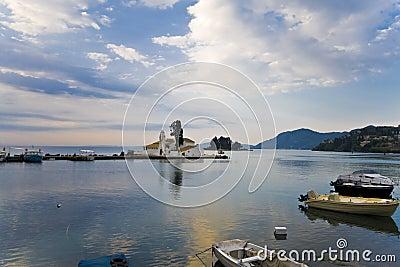 Fishing boat port in Greece