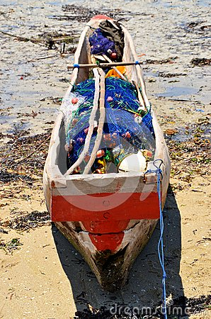 Fishing boat ready to go, Zanzibar